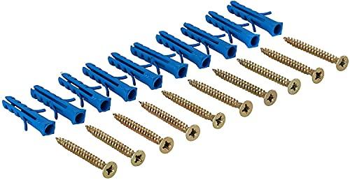 Gedotec Juego de tornillos para perfiles de transición perforados y perforados y perfil final de aluminio, tornillos con tacos