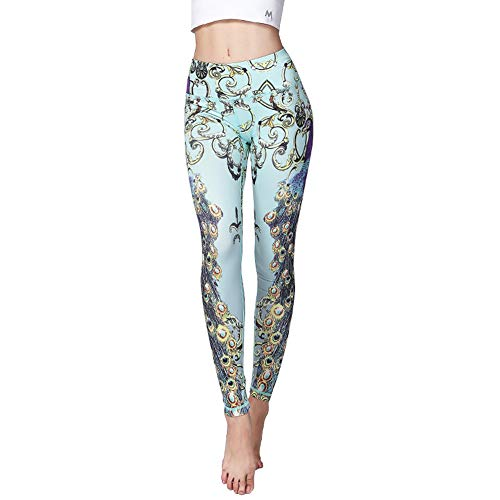 Doris Boutique FU - YOGA Workout Stretch Leggings Patterned Hosen (L, HK38)