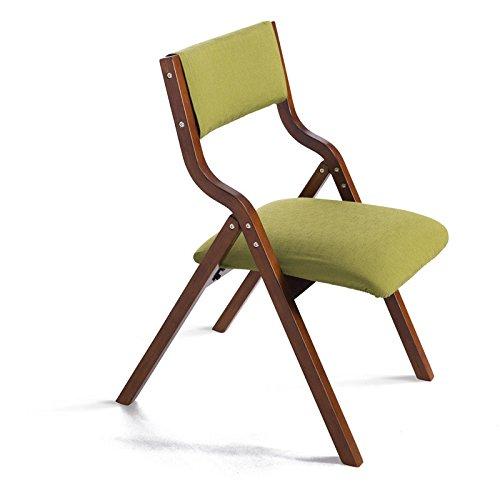 LightSeiEU/Chaises pliantes/simples chaises à manger en bois massif modernes/chaises de bureau/chaises arrière/chaises d'ordinateur (Couleur : A, style : Marron)