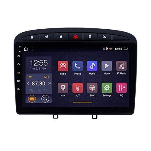 Hesolo Dashboard 9.1 Pulgadas Car Radio Stereo MP5 Player Android 8.1 Compatible para Peugeot 408 (2010-2016), Pantalla táctil 2.5D, WiFi, Mirror Link, Sintonizador de Radio (RAM 2G + ROM 32G)