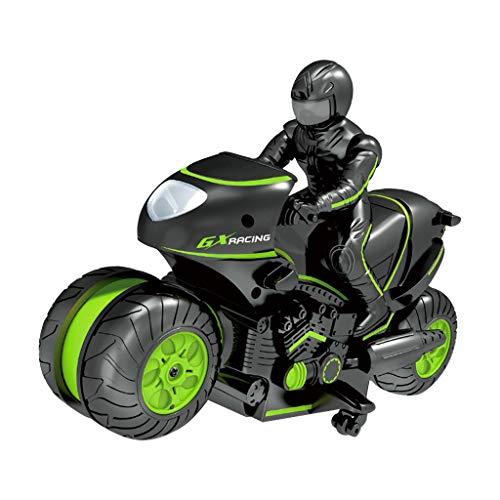 Gmgod❤️❤️ RC Stunt Car,Niños Moto Control Remoto Eléctrico RC Coche Mini Motocicleta...