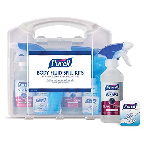 PURELL Body Fluid Spill Kit in Clamshell Carrier, 2 Spill Kit Uses per Clamshell (Pack of 1) - 3841-08-CLMS