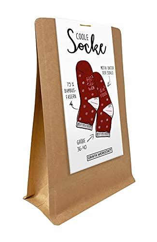 Grafik-Werkstatt Damen rot Freizeitsocken Weihnachten | Bunte Socken ho Gr. 36-40, Einheitsgröße
