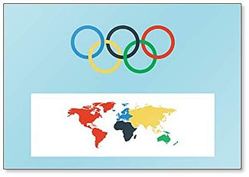 Imán clásico para nevera con símbolo de Juegos Olímpicos