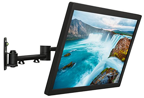 "Mount-It! TV Wall Mount Bracket | Quick Release | Full Motion Swing Out Tilt Swivel | Articulating Arm for 13-42"" Flat Screens and Monitors 