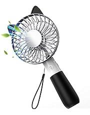 攜帯扇風機 USB 扇風機 手持ち 卓上 折り畳み型 USB充電式 ファン 3段階調整 ?4枚羽根 大風量 コンパクト