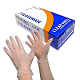 Gloveman Clear Vinyl Gloves (Box of 100) (Small)