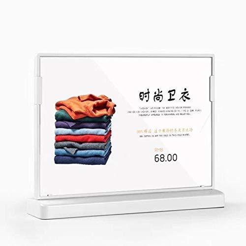 zyr A5 L und T-Form Arbeitsplatte aufrecht Kunststoff Kunststoff Acryl Zeichenhalter Ständer Poster Menü Papier Display Rahmen, horizontal 1