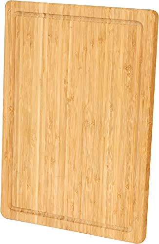 Utopia Kitchen Extra Large Bamboo Cutting Board (17 x 12 inch) - Large Cutting Boards for Meat and Chopping Vegetables