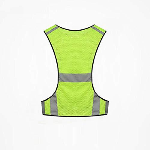 AINIYF Funcionamiento de la noche Deportes al aire libre Ropa reflectante de seguridad Camisa de montar Chaleco reflectante con luces de seguridad LED Perfectamente adecuado para correr, andar en bici