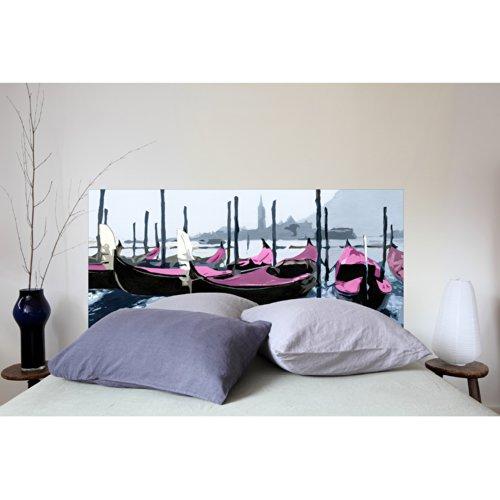 MADEMOISELLE TISS Testiera per Letto Gondoles à Venise Rose 160 * 70 cm