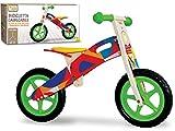 Teorema Bicicletta Cavalcabile Senza Pedali in Legno per Bambini Bicicleta Plegable sin Pedales de Madera para niños, Multicolor, Taglia Unica