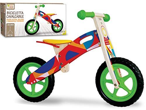 Teorema Bicicletta Cavalcabile Senza Pedali in Legno per Bambini, Multicolore, Unica, 40594
