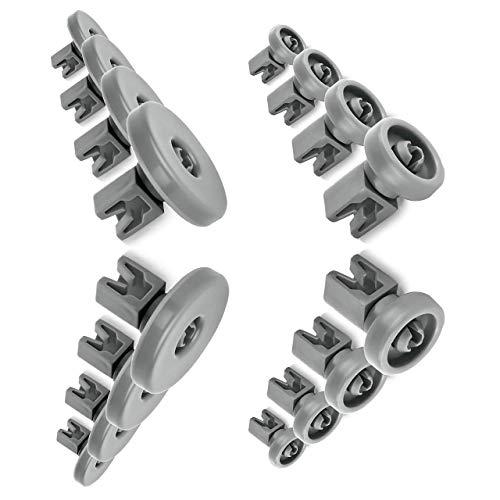 Nestor & Gamble | Lot de 16 roulettes universelles pour panier supérieur et inférieur – Pour tous les lave-vaisselle courants