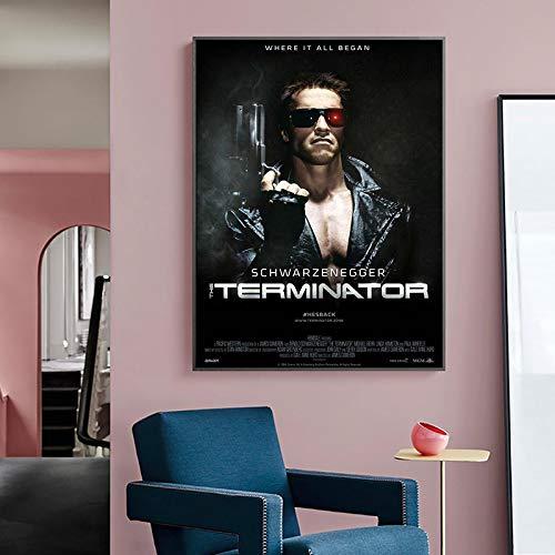 JLFDHR Impression sur Toile 50x70cm sans Cadre Le Terminator...