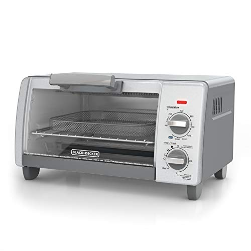 BLACK+DECKER TO1785SG Crisp 'N Bake Air Fry Toaster Oven, 4-Slice, Gray