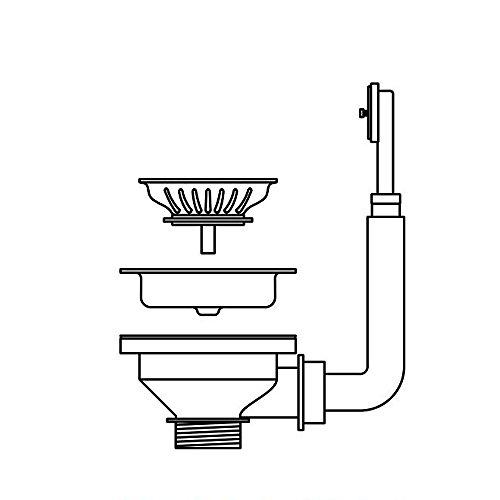 PYRAMIS Ab- und Überlaufventil Ø 92 mit Überlauf im Becken