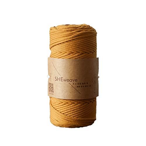 Macrame Cord 3mm x109 yd, Soft Macrame Rope for Handmade Plant Hanger,Wall Hanging, Macrame Supplies, Bohemia Dream Catcher DIY, Craft Knitting (Ginger)