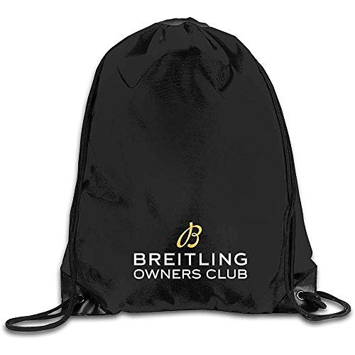 huatongxin String Pull Rucksack,Travel Bolsa de Hombro,Drawstring Gym Backpack,Draw Cord Bag,BOC Breitling Owners Club Storage Bag,Sport Sackpack,Lightweight Cinch Pack,Bulk Backpack