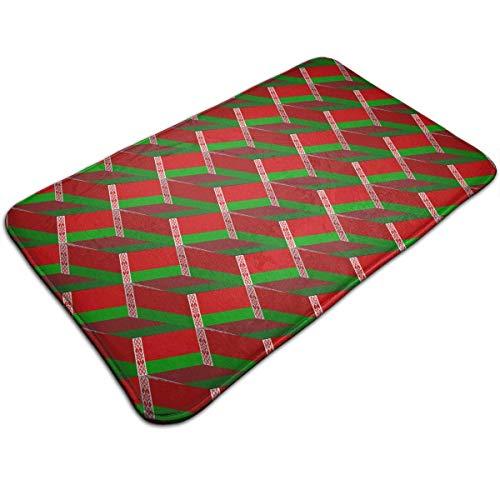 Gxdchfj Belarus Flag 3D Art Pattern Indoor Outdoor Doormat Welcome Doormat Bathroom Mats (Machine-Washable/Non-Slip) 31.5