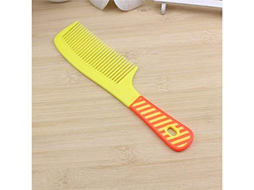 適性物質任命する耐久性 カラープラスチックプリントコームストライプの多色キャンディワイド歯ブラシ