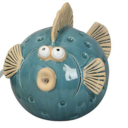 Wasserspeier Fisch blau groß für Miniteiche