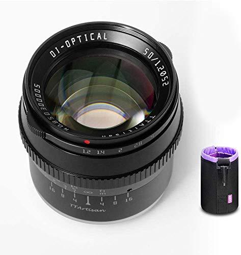 【正規品&2年保証】銘匠光学 TTartisan 50mm F1.2 APS-C 大口径 マニュアルフォーカス単焦点レンズ パナソニック オリンパス マイクロフォーサーズ M4/ 3ミラーレスカメラ対応