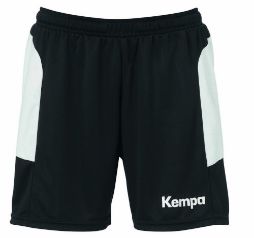 Kempa Damen Shorts Tribute Women, schwarz/weiß, XS