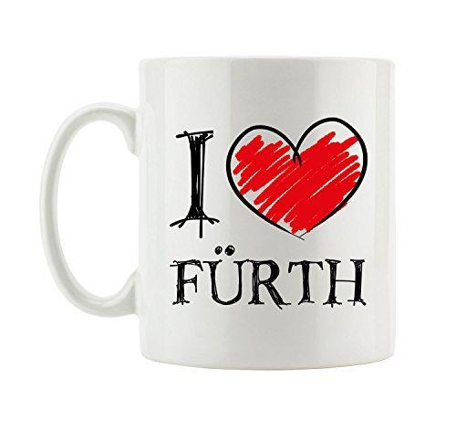 Pixxprint I Love Fürth Fun Tasse