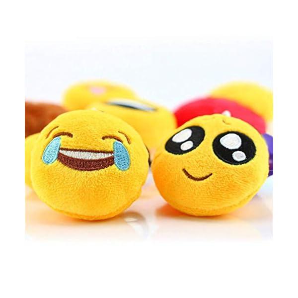 41VNfA9uvRL. SS600  - Ventdest Mini Emoji Llavero, 35 PCS Emoticon Llavero Emoji Encantadora Almohada para la decoración de Bolsos Mochilas y Llaves Regalitos para niños cumpleaños Colgante de decoración para Coche