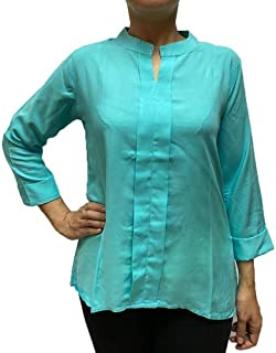 Veronica Long Sleeve Ladies Blouse Sky Blue