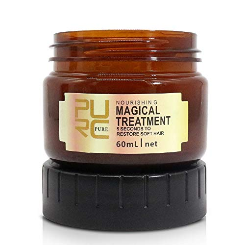 Magical Treatment Hair Mask 120ML, Advanced Molecular Hair Roots Treatment Professtional Hair Conditioner, 5 Seconds to Restore Soft Hair, Deep Conditioner Suitable for Dry & Damaged Hair (60ml)