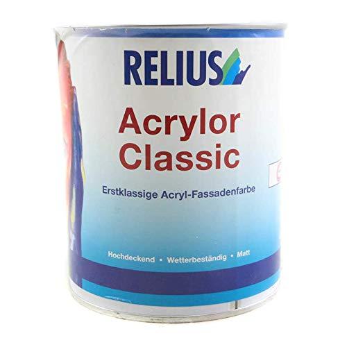 Relius Acrylor Classic Acryl-Fassadenfarbe Matt Weiß 0,725 Liter