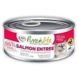 PureVita Grain Free Salmon Canned Cat Food 12/5.5oz Case