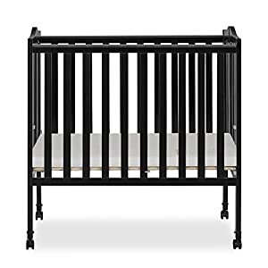 Dream On Me 2 in 1 Lightweight Folding Portable Stationary Side Crib