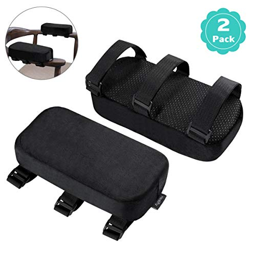 Healifty Armlehnen Polster - Memory Foam für Bürostuhl und Spielstuhl Armlehnen Bezüge Ergonomisch für Ellbogen und Unterarm Anti-Rutsch Unterseite (2PCS)