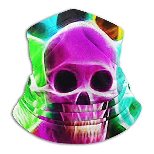 NA Tube Mask Hoofdband Unisex Neon Skulls Winter Fleece Neck Warmer Gaiters Haarband Cold Weather Tube Gezichtsmasker Thermische Neck Scarf Outdoor UV-bescherming Party Cover