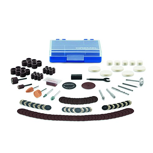 Dremel 730CS 13-Piece Maker Rotary Tool Accessory Kit- Includes Carving Bits, Drill Bits, Sanding Drums and Discs, Grinding Stones, Buffing Wheels, Cutting Discs, and a Storage Case