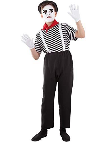 DISBACANAL Disfraz de mimo Infantil - -, 10 años