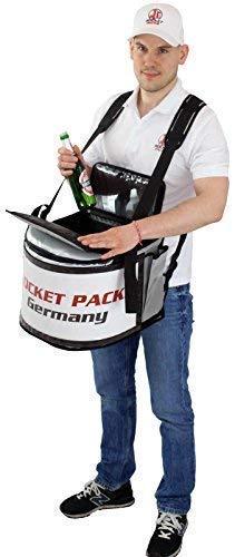 Bauchladen 40 Liter aus LKW Plane Verkaufsbauchladen für Getränke Snacks Eis (mit Locheinlage)