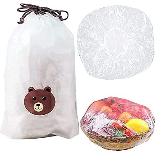 Sacchetti per la conservazione dei prodotti freschi 100 pezzi, sacchetti per la conservazione degli alimenti freschi da mettere sui piatti, sacchetti per la conservazione degli avanzi