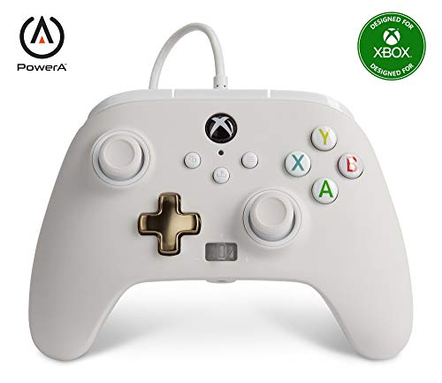 PowerA Enhanced Wired Controller for Xbox - Mist, Gamepad, Wired Video Game Controller, Gaming Controller, Xbox Series X|S, Xbox One - Xbox Series X