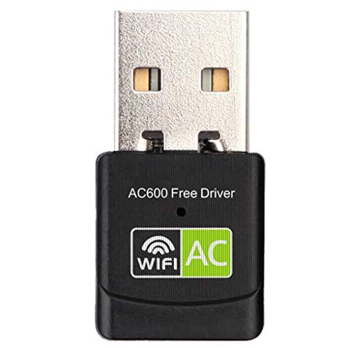 YWSZJ Controlador Gratuito Adaptador USB WiFi Adaptador Wi-Fi de 600 Mbps Antena de 5 GHz USB Ethernet PC Adaptador Wi-Fi LAN WiFi Dongle AC WiFi