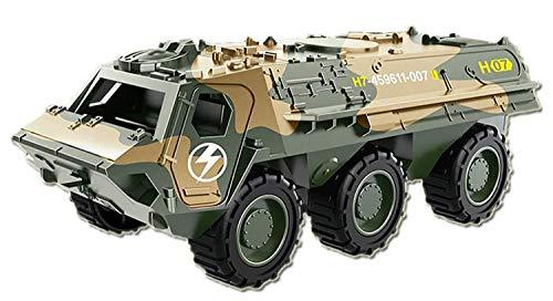 Foanerwi Army Camouflage Battle Vehicle Kinderspielzeug Alloy Pull Back Car, Action-Spielzeug Militäranzug Modell, Geschenk für Jungen