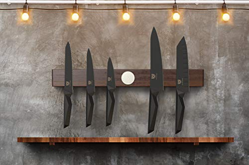 "DALSTRONG - 21"" Powerful Magnetic Knife Holder Strip - Universal Magnetic Power Rack Storage - Dark Brown Acacia"