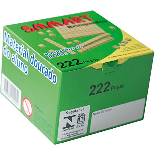 Material Dourado do Aluno em Madeira com 222 Peças, Smmart, Multicor, Pacote de 1