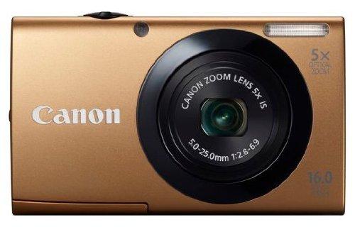 Canon PowerShot A3400 IS Digitalkamera (16 MP, 5-fach opt. Zoom, 7,6cm (3 Zoll) Touch-Display, bildstabilisiert) gold