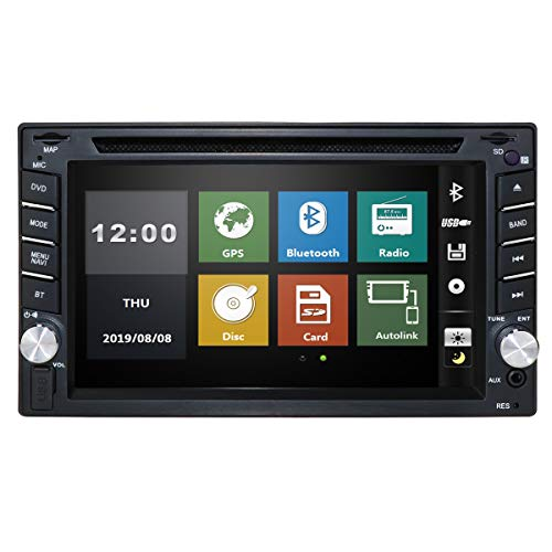 6.2' in Dash Car Stereo Double Din Radio New Framework DVD Player GPS Sat Nav Touchscreen Support Navigation Bluetooth/RDS/Subwoofer/External DVB-T Box/Parking system Steering Wheel Control