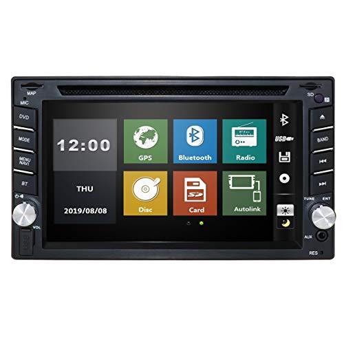 Doppel-DIN-Autoradios in Dash 6.2 Zoll Digital-Bildschirm-Auto Audio-DVD-Spieler Stereoanlage Fernbedienung Autoradio Bluetooth 8GB Auto GPS-Karten-Karte Head Unit USB / SD FM AM Radio Car Player
