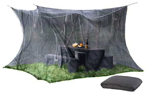 infactory Fliegengitter: Moskitonetz für Innen und Außen, 300 x 300 x 250 cm, 220 Mesh, schwarz (Moskitonetz Terrasse)